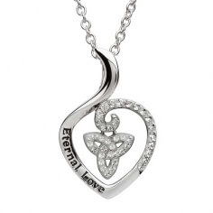 Heart Shaped CZ Trinity Pendant