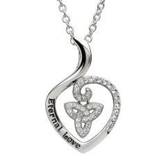 Pendentif CZ trinité en forme de coeur