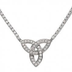 Silver Trinity CZ Pendant