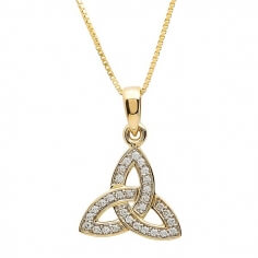 Encrusted Trinity Knot Necklace