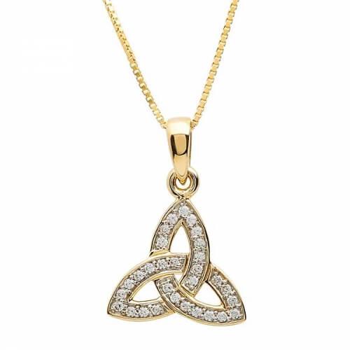 Verkrustete Trinity Knot Halskette
