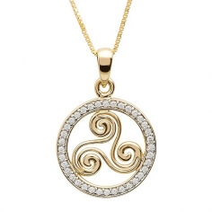 Newgrange Spirale Halskette