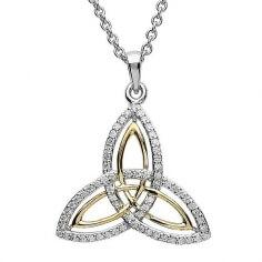 Two Tone Trinity Knot Pendant