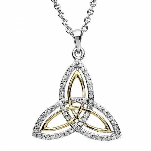Two Tone Trinity Knot Pendant
