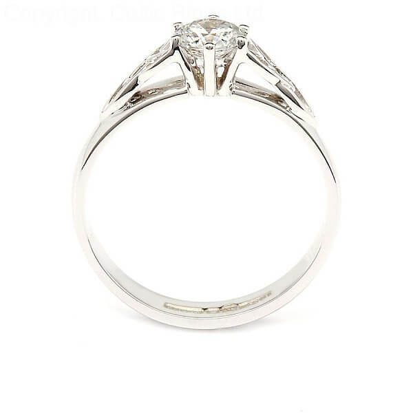 Trinity Knot Engagement Ring With Solitaire Diamond
