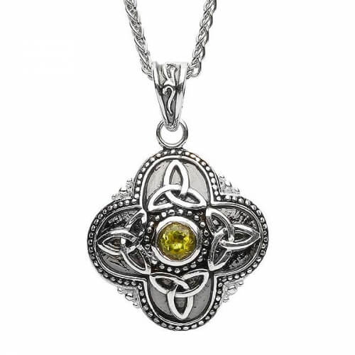 Small Tribal Peridot Necklace