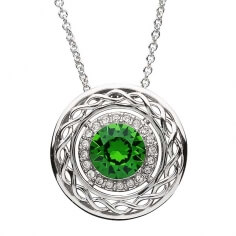 Celtic Pendant with Swarovski Crystals