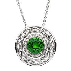 Pendentif celtique avec des cristaux Swarovski