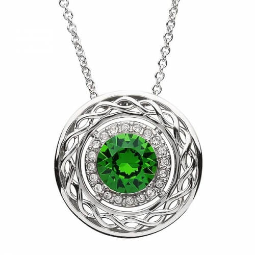 Celtic Pendant with Swarovski Crystals