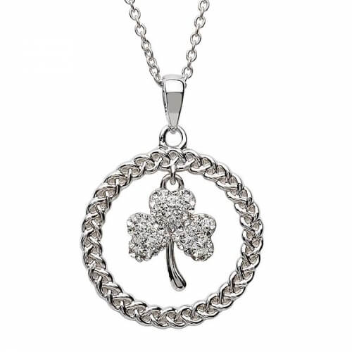 Shamrock Necklace with Swarovski Crystal
