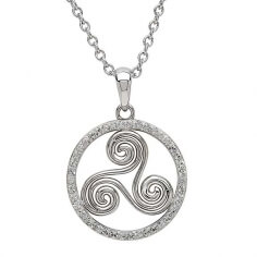 Silver Newgrange Necklace