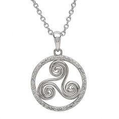 Silberne Newgrange-Halskette