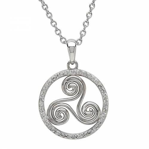 Silver Newgrange Necklace