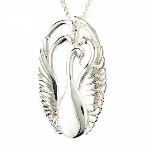 Children of Lir Pendant - White Gold or Silver