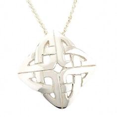 Keltischer Knoten Anhänger - Weißgold oder Silber
