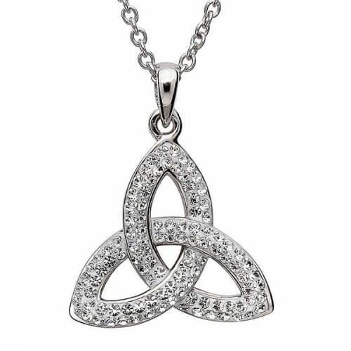 Pendentif noeud Trinité avec cristaux Swarovski