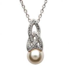 Keltischer Perlenanhänger mit Swarovski-Kristallen