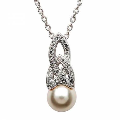 Pendentif perle celtique avec cristaux swarovski