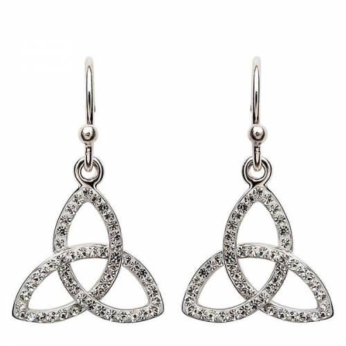 Trinity Knot Ohrringe mit Swarovski-Kristallen