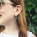 Kleeblatt Ohrringe mit Swarovski Kristallen - In den Ohren