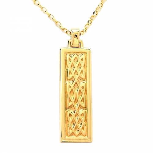 Triple Celtic Knot Pendant - Yellow Gold