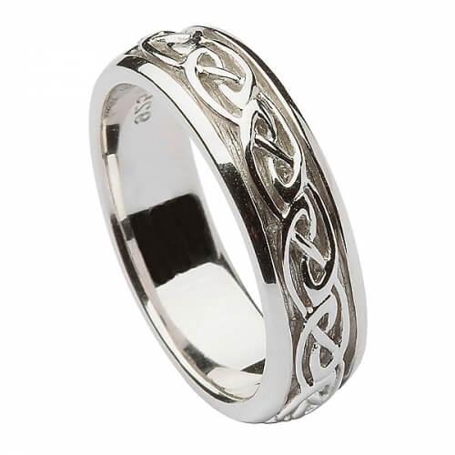 Damen Silber Keltischer Knoten Ring