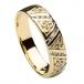Women's Diamond Trinity Knot Wedding Ring - Yellow Gold
