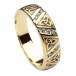 Men's Diamond Trinity Knot Wedding Ring - Yellow Gold