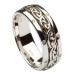 Keltischer Knoten-Hochzeitsband der Damen - alles Weißgold