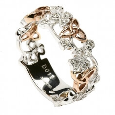 Trinität Kleeblatt Diamant Ring