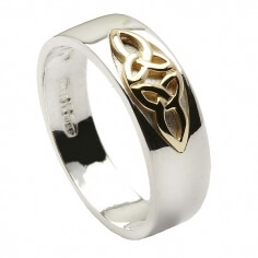Trinity Knot Inset Ring - Silver & Gold