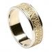 Damenprägung Trinity Knoten Ring mit Trim - Gelb mit Weißgoldverzierung