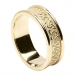 Women's Embossed Trinity Knot Ring with Trim - All Yellow Gold