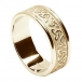 Men's Embossed Trinity Knot Ring with Trim - All Yellow Gold