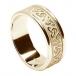 Geprägter Trinity Knoten Ring mit Trim