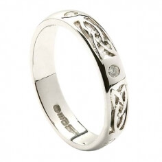 Trinity Diamond Wedding Band - All White Gold