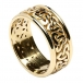 Men's Trinity Knot Ring with Trim - All Yellow Gold