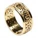 Herren Trinity Knoten Ring mit Trim - Alles gelbes Gold