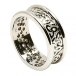 Women's Trinity Knot Ring with Trim - All White Gold
