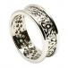 Damen Trinity Knoten Ring mit Trim - Alles weiße Gold
