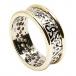 Damen Trinity Knoten Ring mit Trim - Weiß mit Gelb Trim