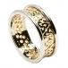 Damen Trinity Knoten Ring mit Trim - Gelb mit weißem Rand