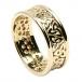 Damen Trinity Knoten Ring mit Trim - Alles Gelbe Gold