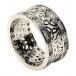 Trinité cluster anneau avec saphir garniture - Tout l'or blanc