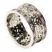 Trinité cluster anneau avec rubis garniture - Tout l'or blanc