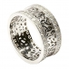 Trinity Cluster Ring with Diamond Trim - All White Gold