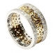 Trinity Cluster Ring with Diamond Trim - Yellow with White Trim