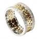 Anneau de Trinité avec garniture de diamant - Jaune avec bordure blanche