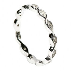Unendlichkeit Knoten Diamant-Ring - Weißgold