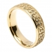 Men's Celtic Hearts Wedding Band - Yellow Gold